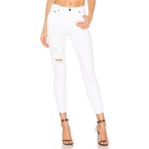 Pistola Distressed White Jeans 29